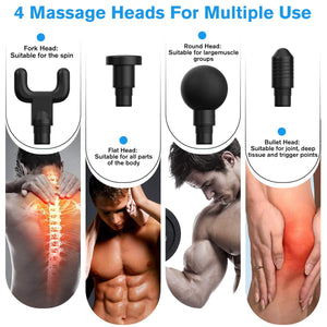 Muscle Massage Gun Sport Therapy Massager (Relaxation Vibrador Pain Relief)