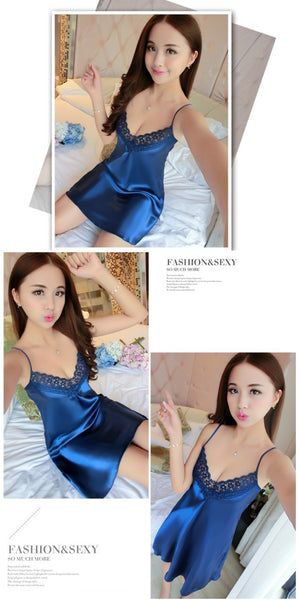 AIO Fashion Night Dress + Deep V Sleepwear