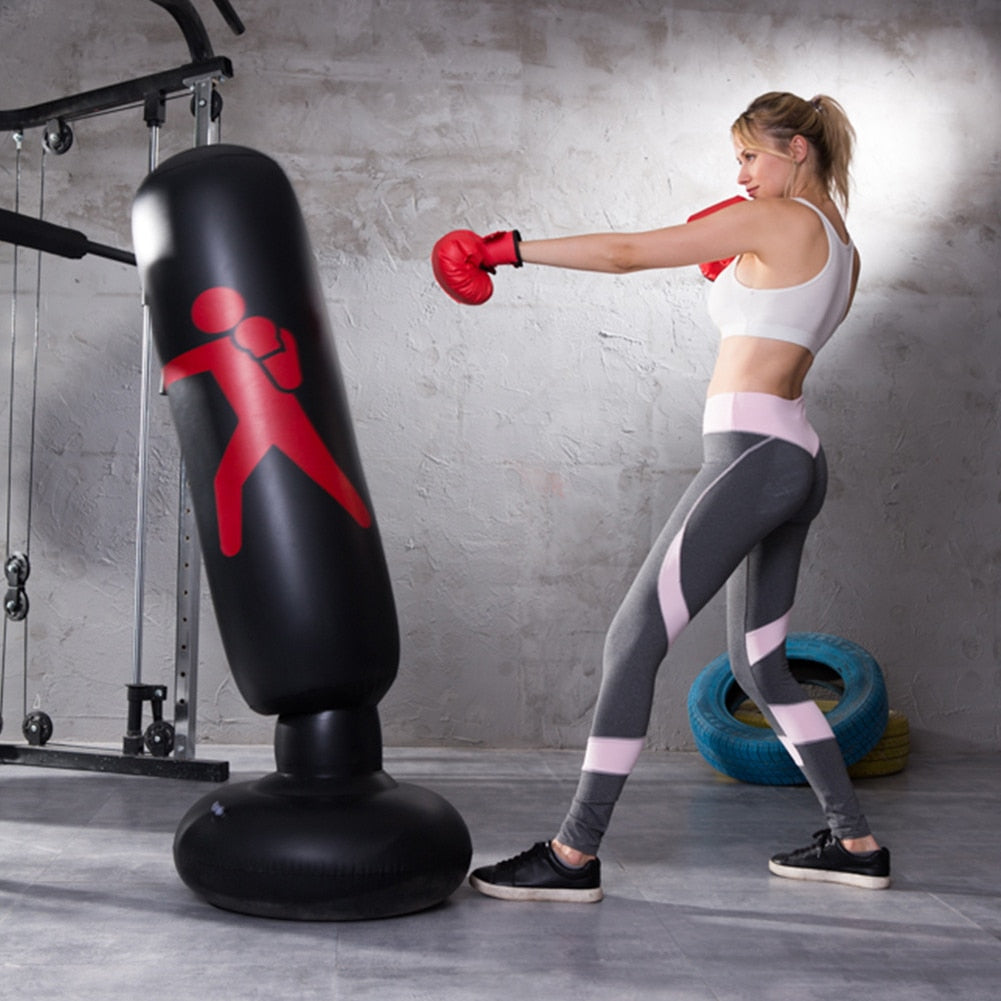 🔥Inflatable Boxing Punch Bag + PUMP INCLUDED
