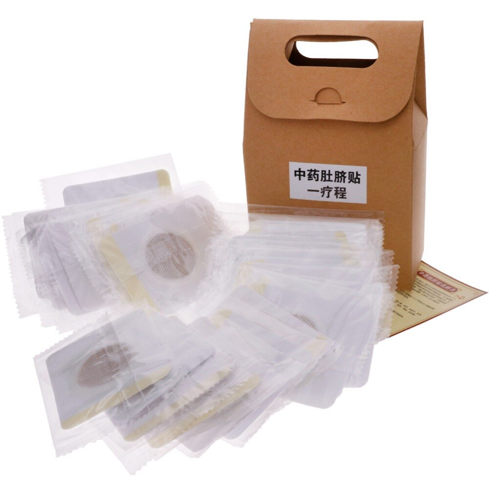 40pcs/Box Traditional Chinese Medicine Magnetic Slim Slimming Navel Patch Weight Loss Adhesive Pads Burning Fat #267839