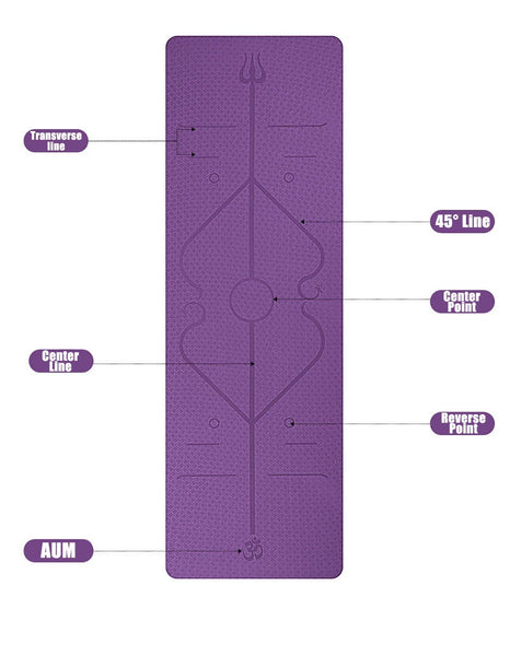 AIO Yoga Mat with Position Line Non Slip