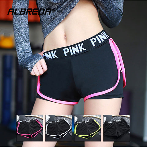 PINK LETTER Sports Shorts