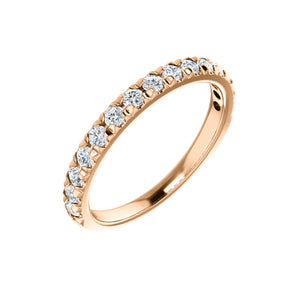 French Set Diamond Anniversary Stack Band in White, Yellow or Rose Gold