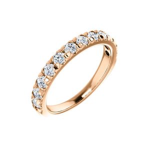 14k Gold 3/4 Carat French Set Diamond Anniversary Band - Talisman Collection Fine Jewelers