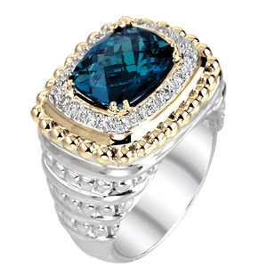 London Blue Topaz Ring by Vahan - Talisman Collection Fine Jewelers
