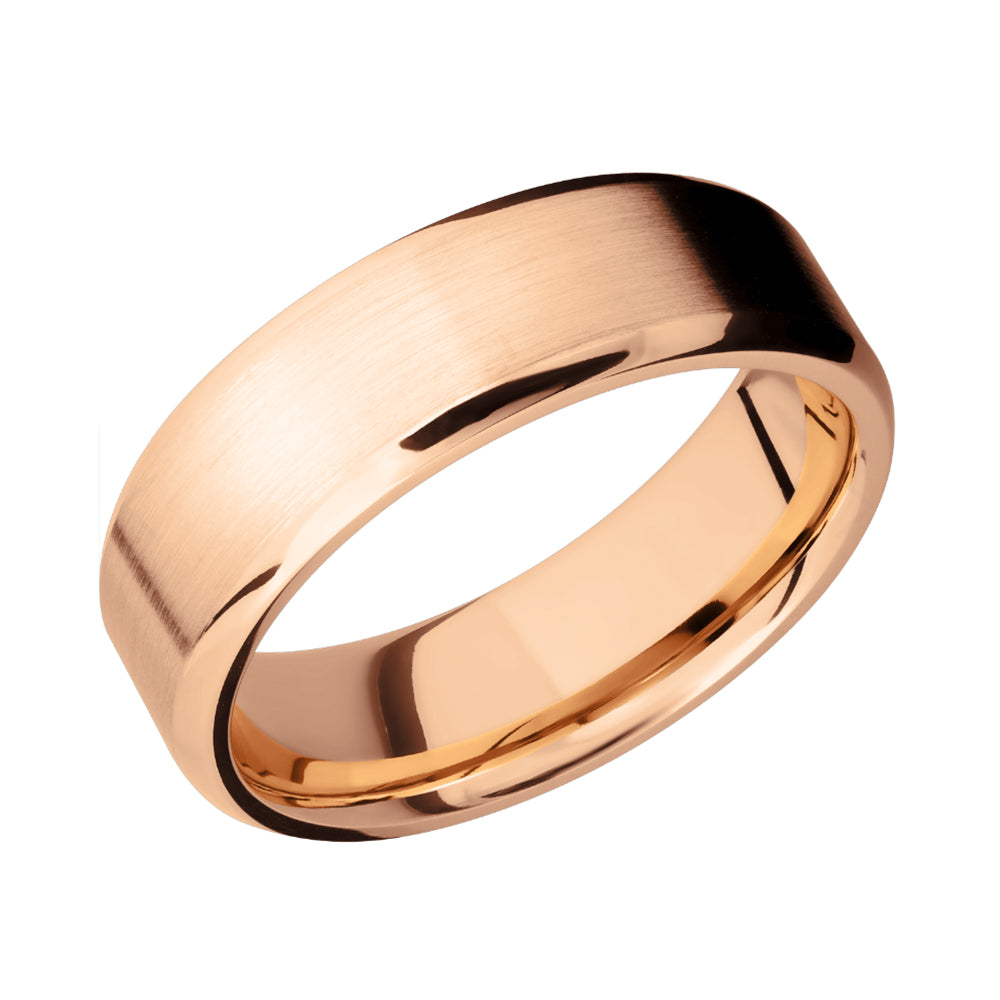 14k Gold Beveled Men's Band - Talisman Collection Fine Jewelers