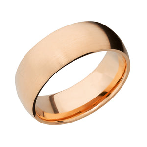14k Gold Classic Domed Men's Band