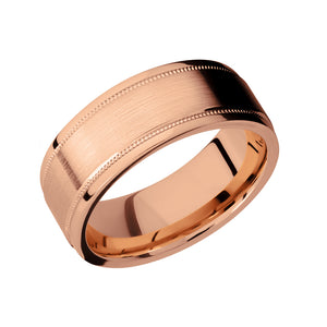14k Gold Double Milgrain Detail Men's Band - Talisman Collection Fine Jewelers