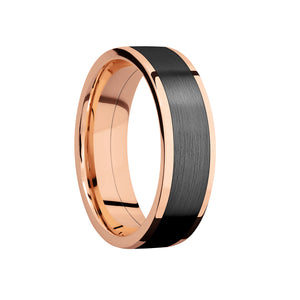 Black Zirconium Inlay Men's Band - Talisman Collection Fine Jewelers