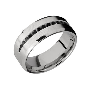 Black Diamond Half Eternity Men's Band - Talisman Collection Fine Jewelers