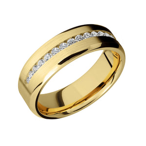 White Diamond Half Eternity Men's Band - Talisman Collection Fine Jewelers
