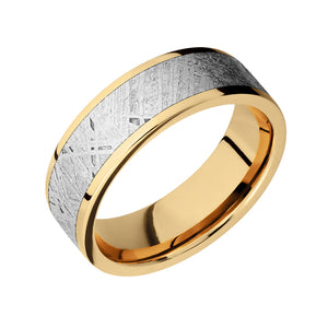 Classic Meteorite Inlay Men's Band - Talisman Collection Fine Jewelers