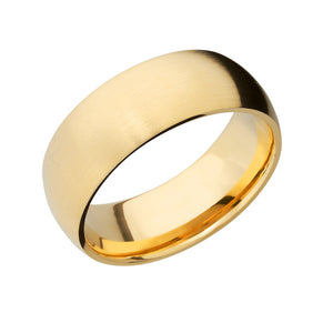 14k Gold Classic Domed Men's Band - Talisman Collection Fine Jewelers