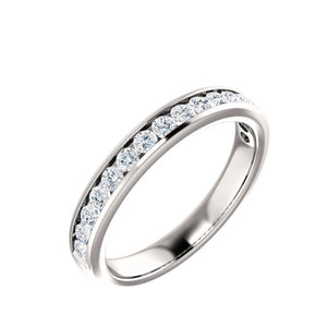 14k Gold 1 Carat Channel Set Diamond Anniversary Band