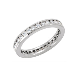 Diamond Channel Eternity Band in White or Yellow Gold, 1.00 Carat Total Weight - Talisman Collection Fine Jewelers