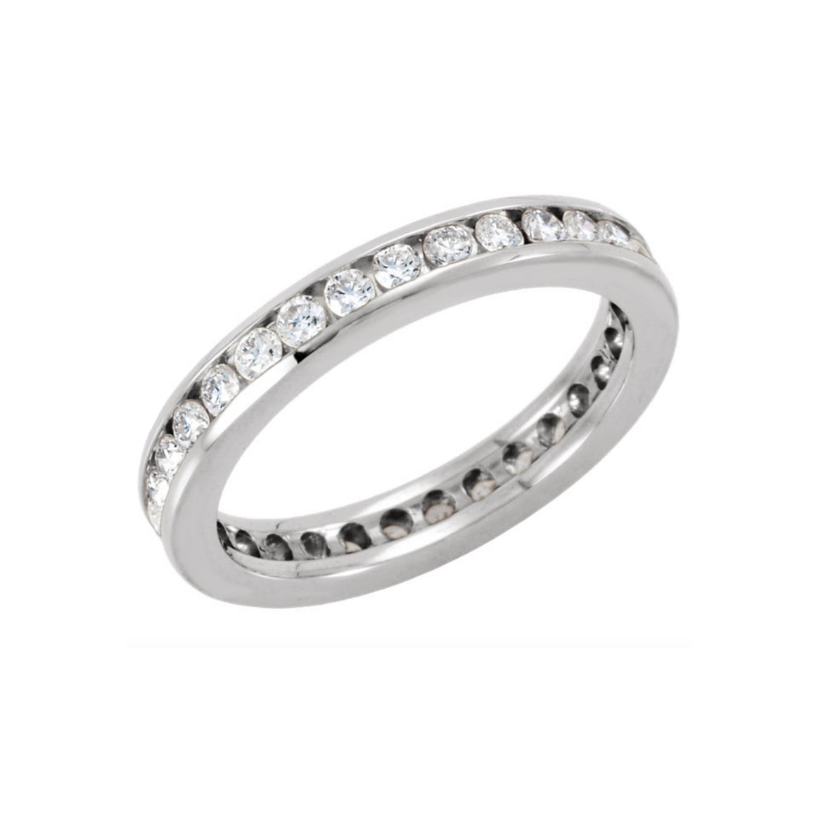 14k Gold 1 Carat Diamond Channel Eternity Band - Talisman Collection