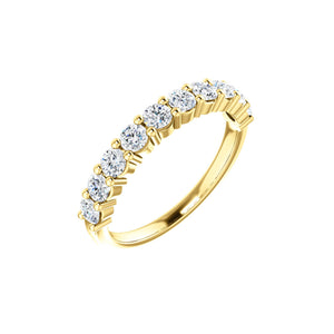 Round Diamond Anniversary Stack Band in White, Yellow or Rose Gold - Talisman Collection Fine Jewelers