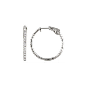 14k Gold 5 Carat Diamond Inside/Outside Hoop Earrings - Talisman Collection