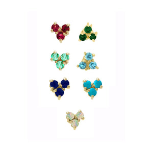 Gemstone Tri Studs by Eden Presley - Talisman Collection Fine Jewelers
