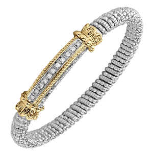 Multi-Pave Diamond Bar Bracelet by Vahan - Talisman Collection Fine Jewelers