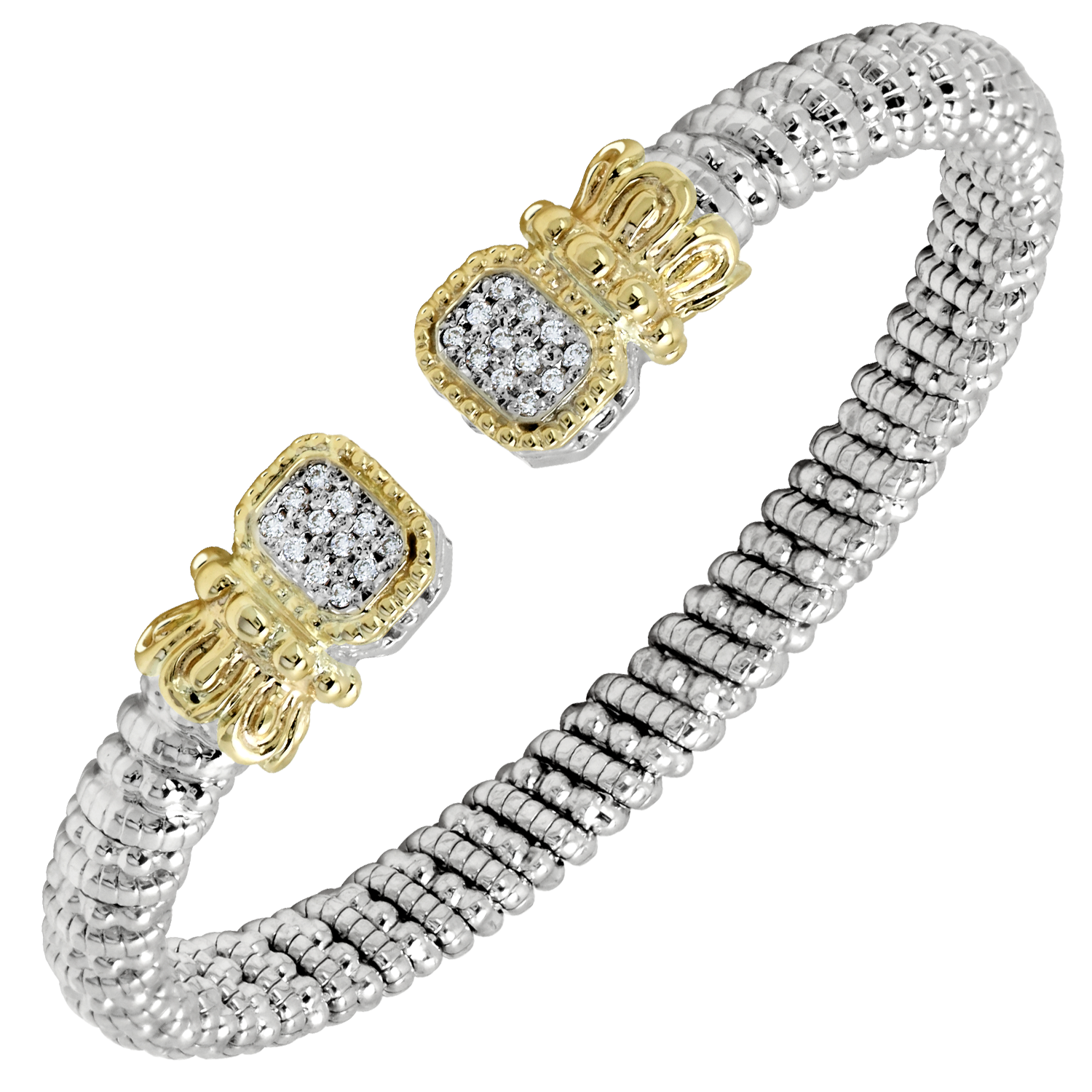 Multi-Pave Diamond Open Cuff by Vahan - Talisman Collection Fine Jewelers