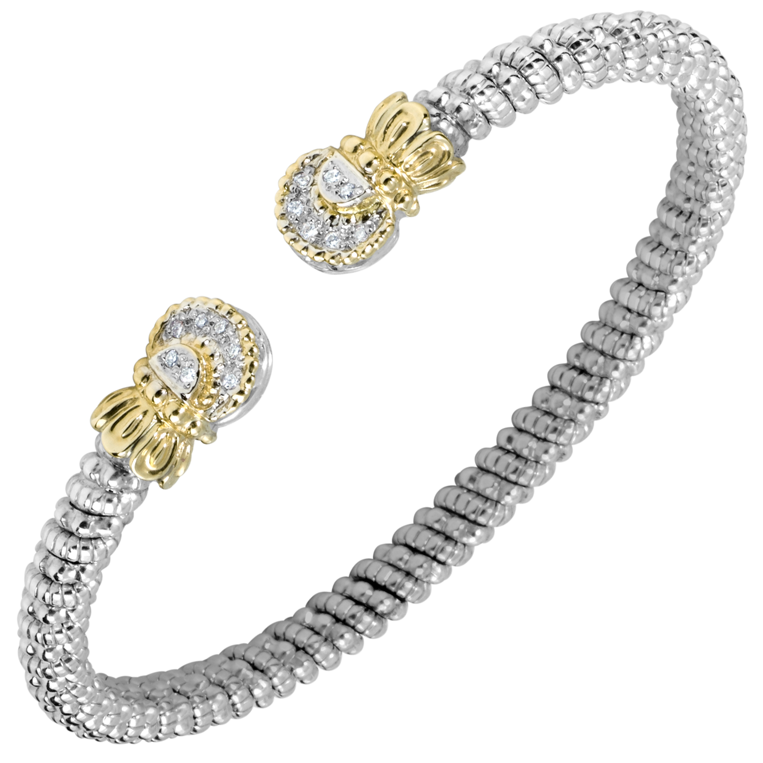 Diamond Petite Nuvo Open Cuff by Vahan - Talisman Collection Fine Jewelers