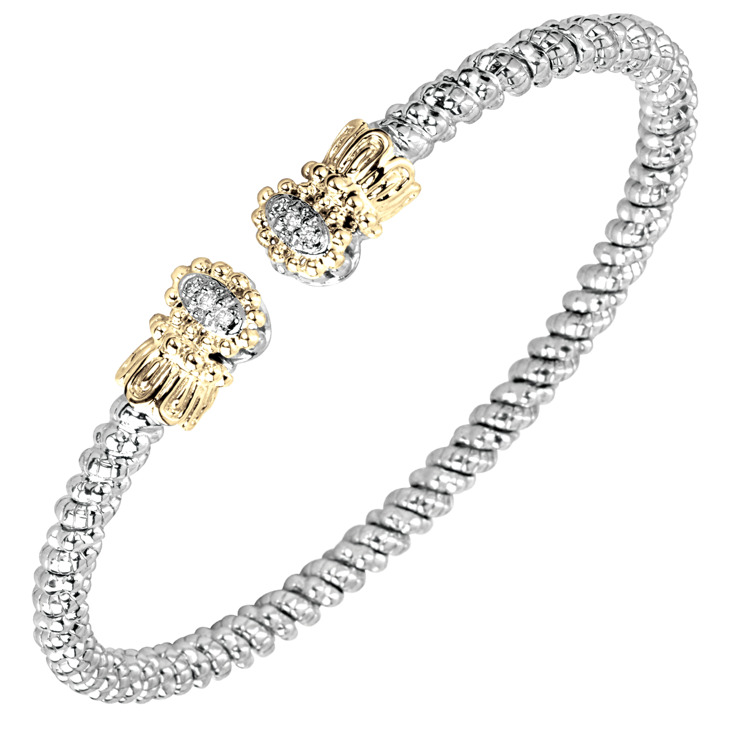 Petite Diamond Fleur Nuvo Bracelet by Vahan - Talisman Collection Fine Jewelers