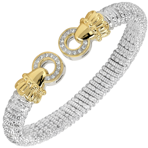 Diamond Open Circle Cuff Bracelet by Vahan - Talisman Collection Fine Jewelers