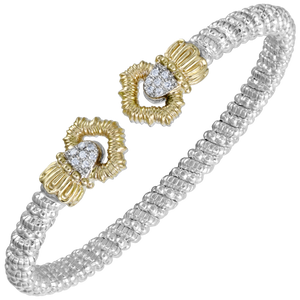 Diamond Petite Crown Open Cuff by Vahan - Talisman Collection Fine Jewelers
