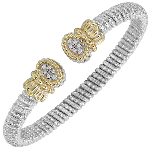 Multi-Pave Diamond Nuvo Open Cuff by Vahan - Talisman Collection Fine Jewelers