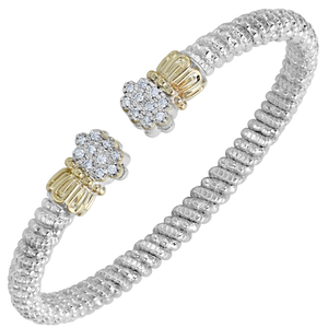 Multi-Pave Diamond Crown Open Cuff by Vahan - Talisman Collection Fine Jewelers