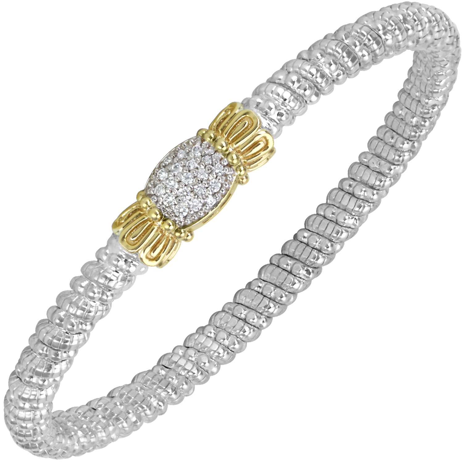Multi-Pave Diamond Petite Bracelet by Vahan - Talisman Collection Fine Jewelers