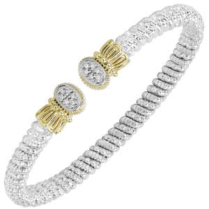 Multi-Pave Diamond Oval Petite Open Cuff by Vahan - Talisman Collection Fine Jewelers