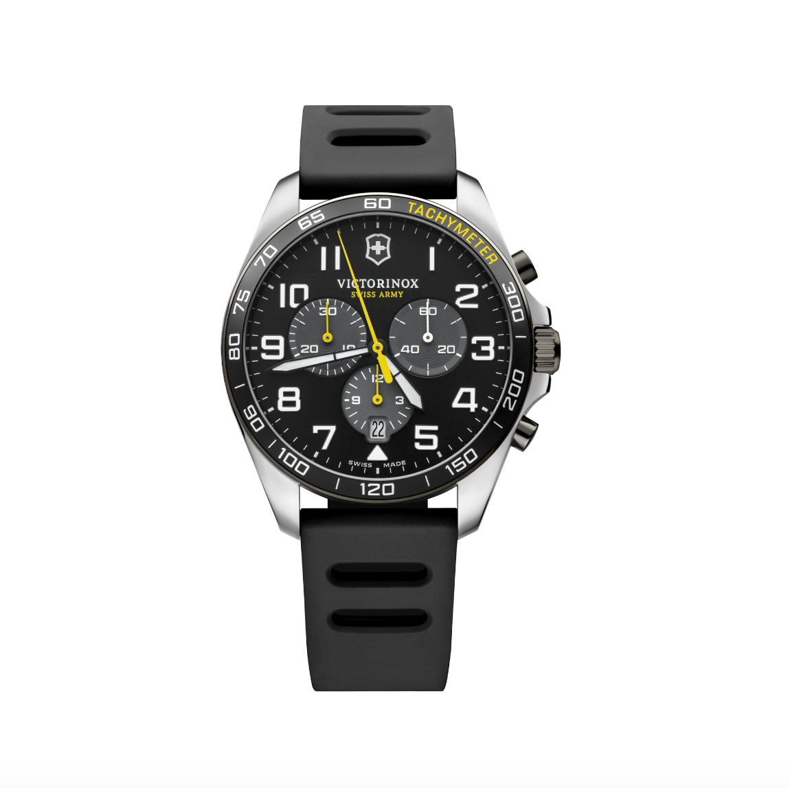 Victorinox Swiss Army Black and Yellow Fieldforce Sport Chronograph