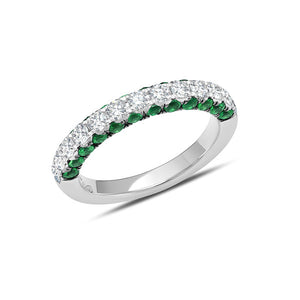 Emerald and Diamond 3 Sided Half Band by Graziela - Talisman Collection Fine Jewelers