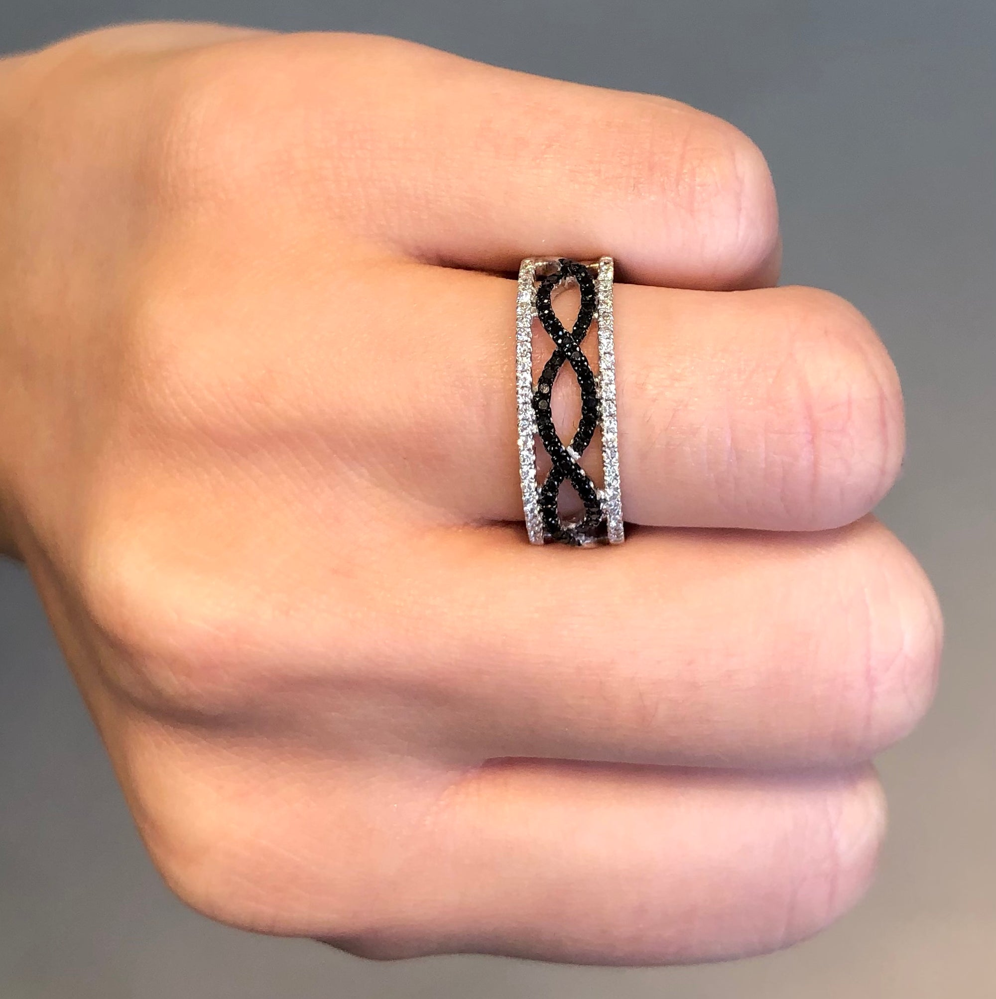 Black and White Diamond Wisp Band - Talisman Collection Fine Jewelers