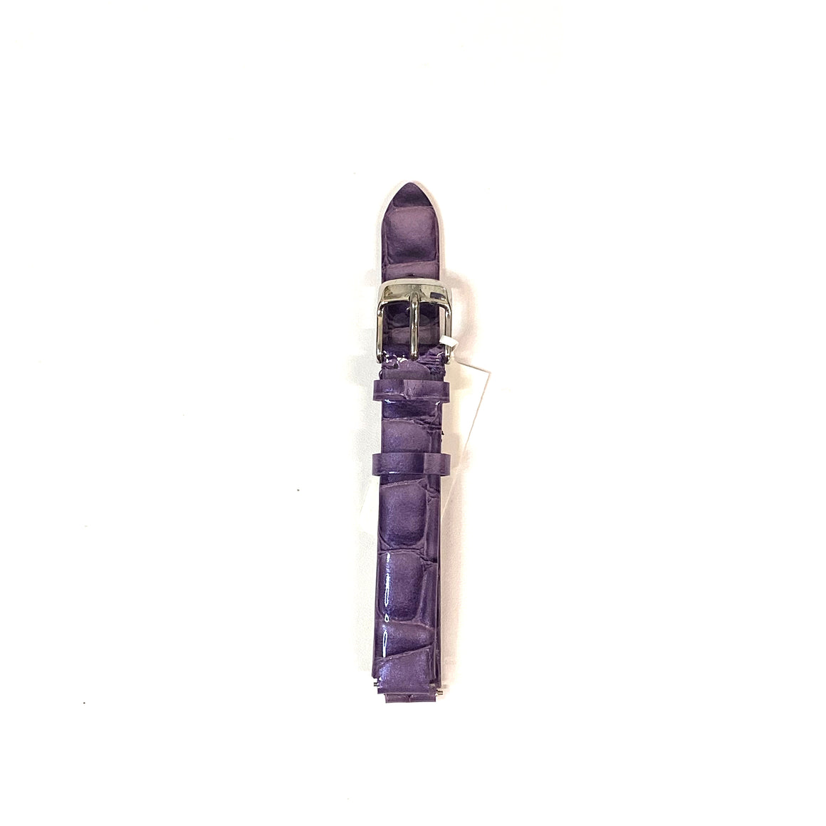 Philip Stein Purple Leather Watch Band, Size 4 (12mm)