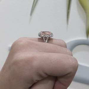 Pink Diamond Radiant Ring