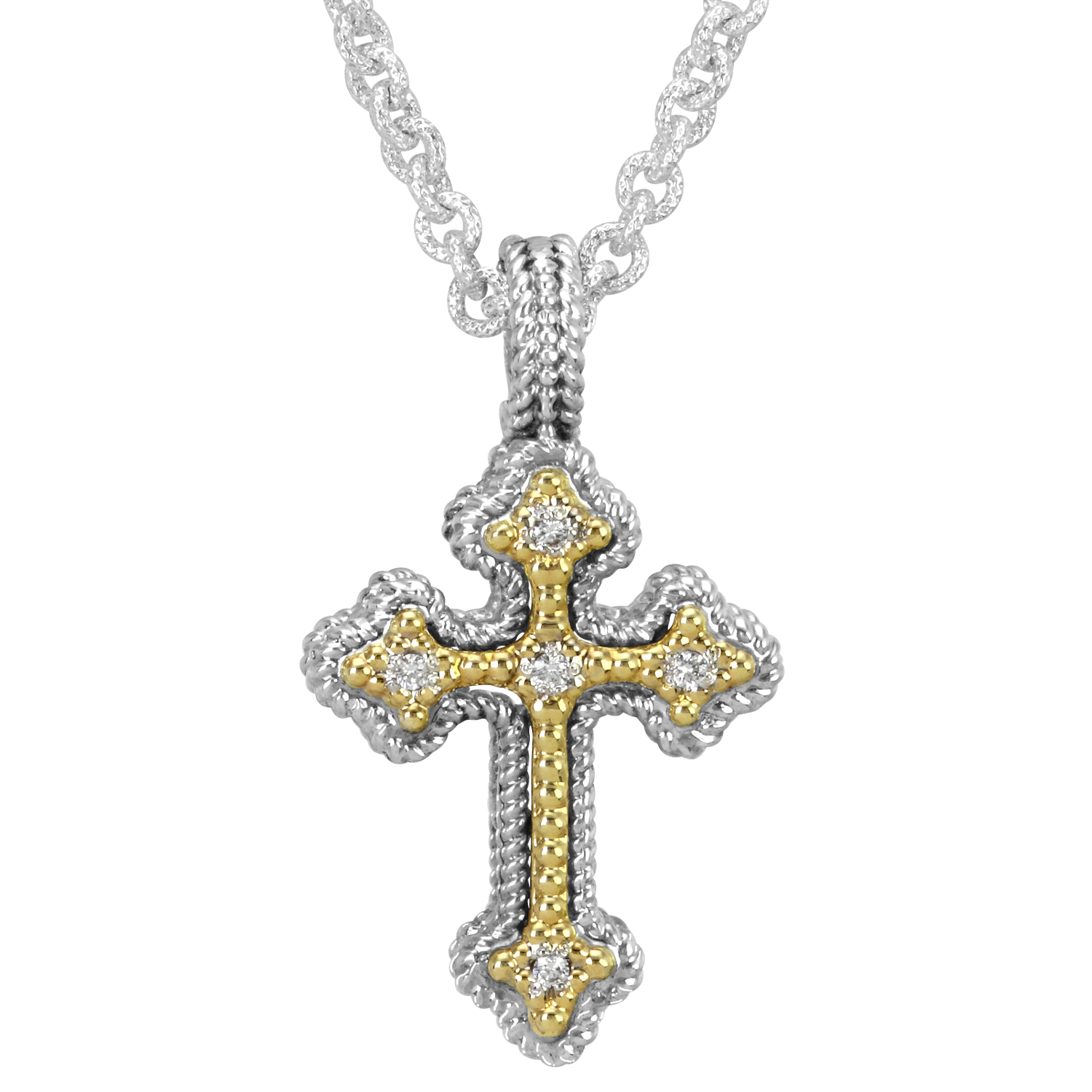 Diamond Nuvo Cross by Vahan - Talisman Collection Fine Jewelers