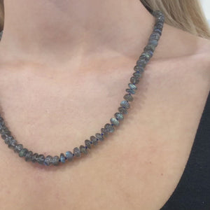 "Labradorite ""Waiting For Peace"" Necklace by Anna Ruth Henriques"