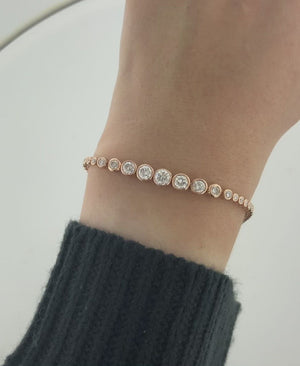 Diamond Bolo Bracelet in 14k Rose Gold, 2.00 Total Carat Weight