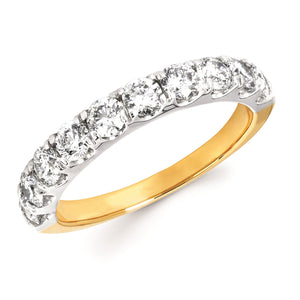 Diamond Anniversary Band in 14k Gold - 0.25, 0.75, 1.00 Carat Total Weights