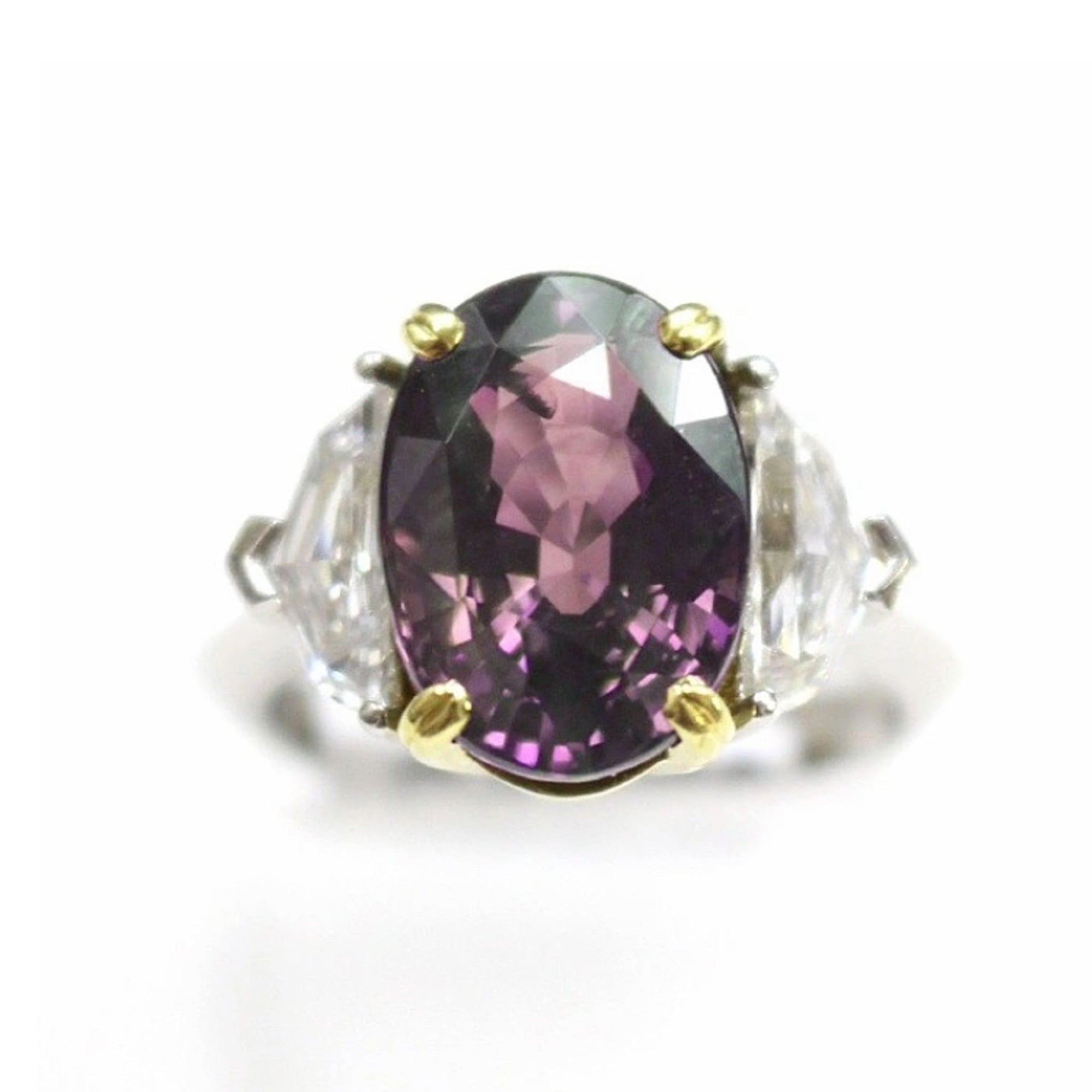 Alexandrite and Diamond, Platinum and 20k Yellow Gold Ring - Talisman Collection Fine Jewelers