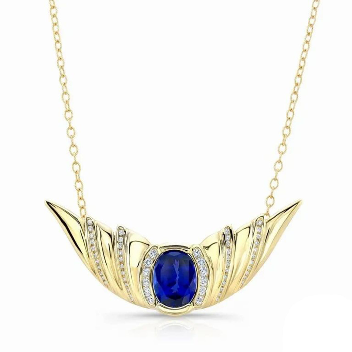 Tanzanite, 14k Yellow Gold Necklace