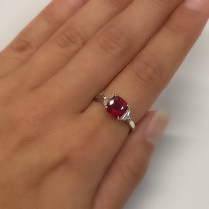 Ruby, Platinum and 18k Yellow Gold Ring