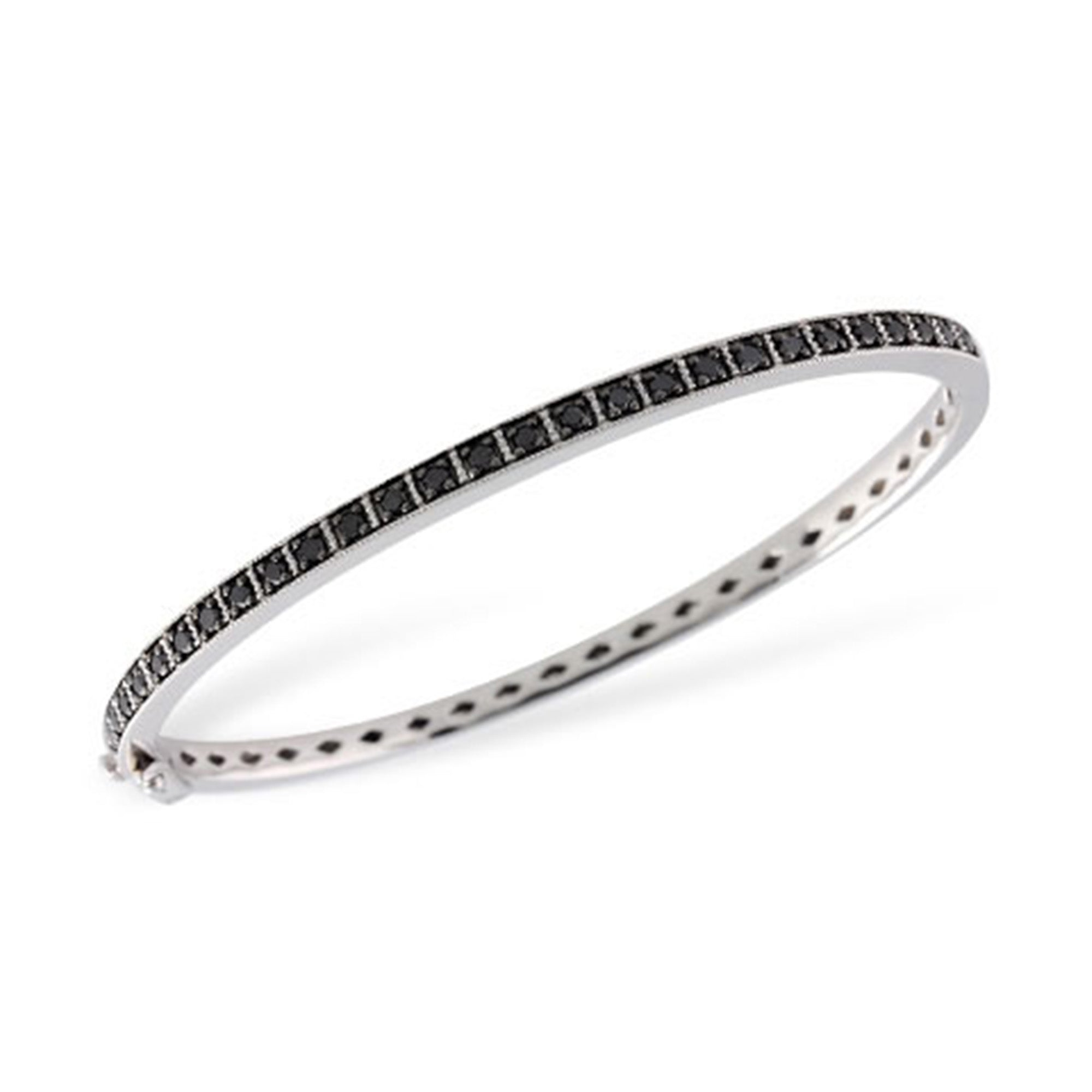 Black Diamond Bangle Bracelet - Talisman Collection Fine Jewelers