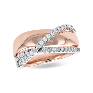 Diamond Flow Bypass Ring - Talisman Collection Fine Jewelers