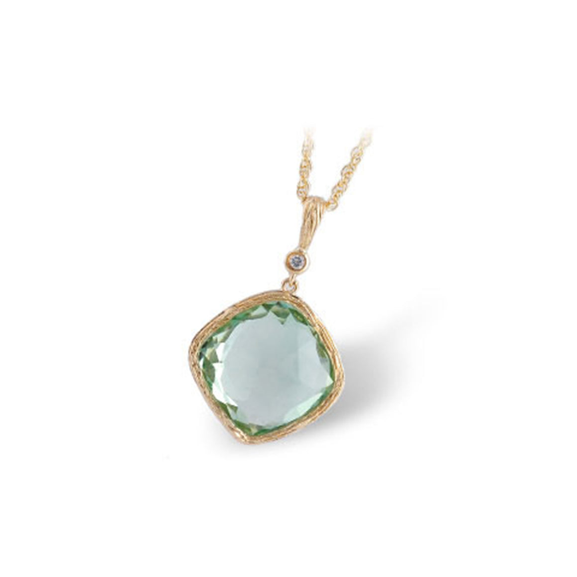 Green Amethyst Candy Drop Necklace