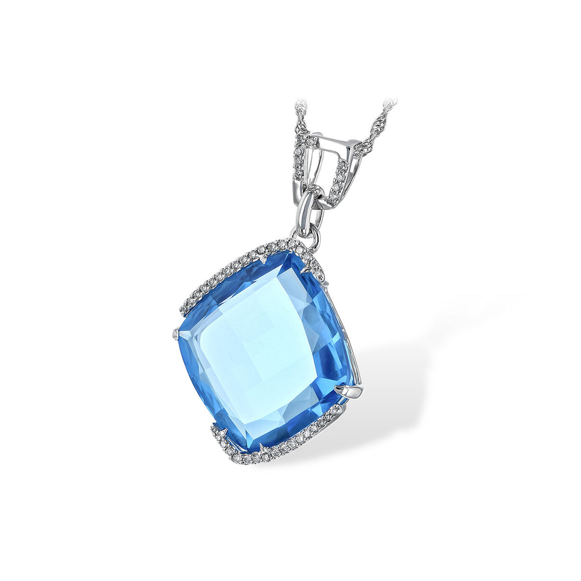 Blue Topaz Candy Drop Necklace