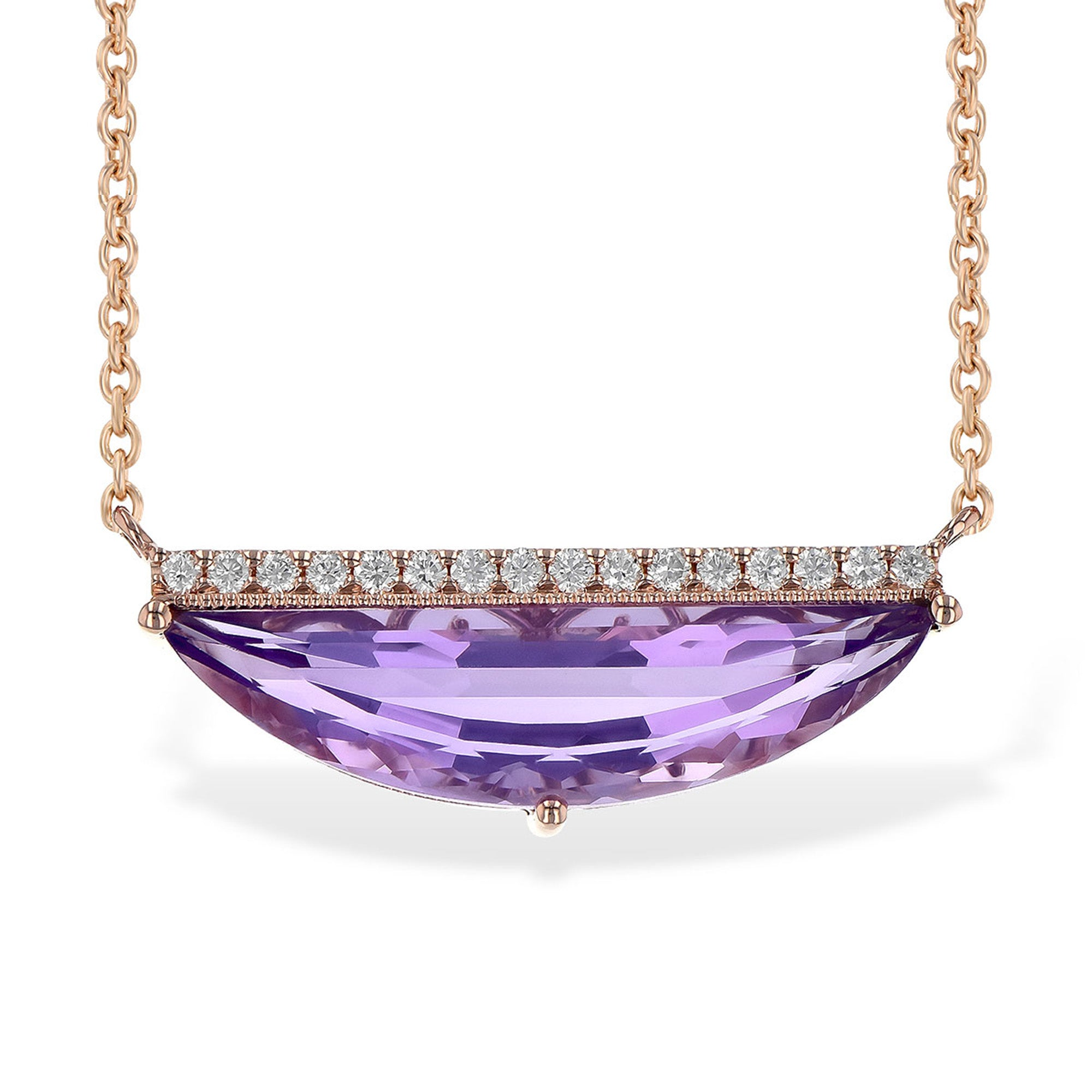 Amethyst Half Moon Necklace - Talisman Collection Fine Jewelers